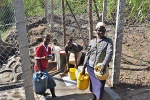 The Water Project: Shianda Community, Akhonya Spring -  At The Spring