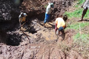 The Water Project: Lukala West Community, Luka Spring -  Excavation