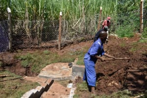 The Water Project: Lukala West Community, Luka Spring -  Back Filling With Soil