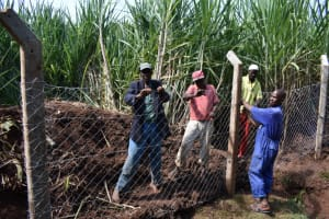 The Water Project: Lukala West Community, Luka Spring -  Fencing
