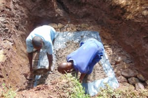 The Water Project: Lukala West Community, Luka Spring -  Foundation With Concrete