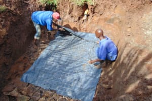 The Water Project: Lukala West Community, Luka Spring -  Foundation With Wire