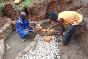 The Water Project: Lukala West Community, Luka Spring -  Wall Construction