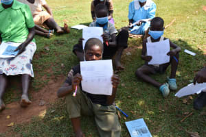 The Water Project: Lukala West Community, Luka Spring -  Boy With Covid Lesson