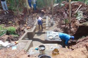 The Water Project: Lukala West Community, Luka Spring -  Construction Work In Progress