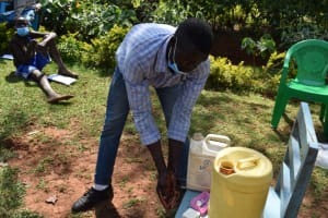 The Water Project: Lukala West Community, Luka Spring -  Demonstrating Hand Washing