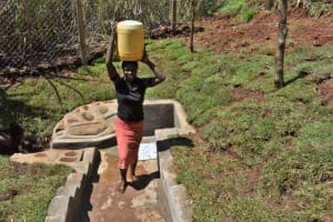 The Water Project: Lukala West Community, Luka Spring -  Water From Luka Spring