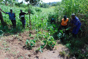 The Water Project: Lukala West Community, Angatia Spring -  Measuring Site For Excavation