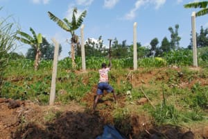 The Water Project: Lukala West Community, Angatia Spring -  Backfilling With Soil