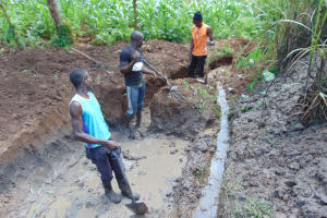 The Water Project: Lukala West Community, Angatia Spring -  Excavation