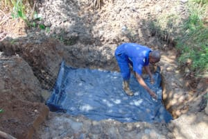 The Water Project: Lukala West Community, Angatia Spring -  Foundation Wire