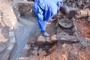 The Water Project: Lukala West Community, Angatia Spring -  Stairs Construction