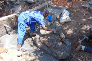 The Water Project: Lukala West Community, Angatia Spring -  Stone Pitching