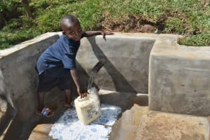 The Water Project: Lukala West Community, Angatia Spring -  All Smiles At The Waterpoint