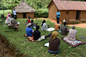 The Water Project: Lukala West Community, Angatia Spring -  Community Health Worker Shares