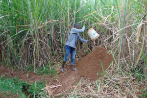 The Water Project: Lukala West Community, Angatia Spring -  Community Participation