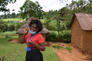 The Water Project: Lukala West Community, Angatia Spring -  Demonstrating Brushing Of Teeth