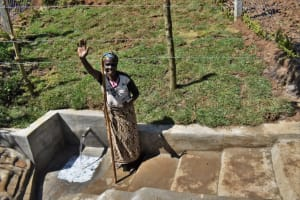 The Water Project: Lukala West Community, Angatia Spring -  Grateful For Clean Water