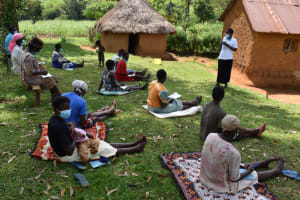 The Water Project: Lukala West Community, Angatia Spring -  Rose Leading The Session