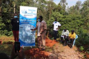 The Water Project: Shikoye Community, Kwa Witinga Spring -  Member Of Parliament Addressing Participants