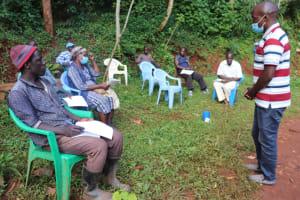 The Water Project: Shikoye Community, Kwa Witinga Spring -  Victor Leading On Water Management