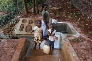 The Water Project: Shikoye Community, Kwa Witinga Spring -  At The Spring