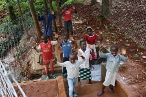 The Water Project: Shikoye Community, Kwa Witinga Spring -  Celebrating At The Water Source