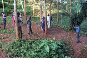 The Water Project: Shikoye Community, Kwa Witinga Spring -  Faciliatator Addressing Participants