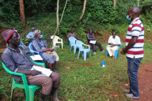 The Water Project: Shikoye Community, Kwa Witinga Spring -  Primary Health Care Training