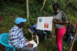 The Water Project: Shikoye Community, Kwa Witinga Spring -  Training Chart Presentation