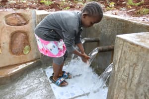 The Water Project: Shikoye Community, Kwa Witinga Spring -  Water User Playing With Water