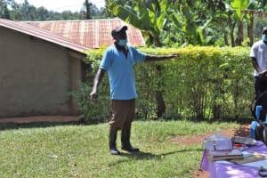 The Water Project: Shisasari Itumbu Community, Mathias Juma Spring -  Mathias Addressing The Group