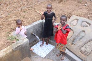 The Water Project: Shisasari Itumbu Community, Mathias Juma Spring -  At The Water Point