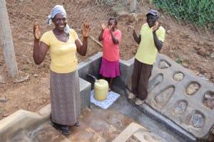 The Water Project: Shisasari Itumbu Community, Mathias Juma Spring -  Celebrating At The Spring