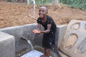 The Water Project: Shisasari Itumbu Community, Mathias Juma Spring -  Water Splashing