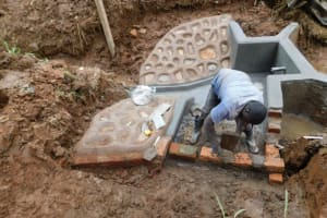 The Water Project: Bumira Community, Savai Spring -  Stairs Construction