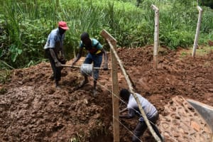 The Water Project: Bumira Community, Savai Spring -  Fencing