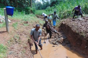 The Water Project: Bumira Community, Savai Spring -  Excavation