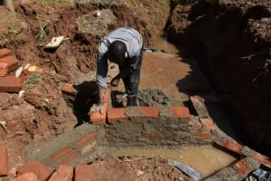 The Water Project: Bumira Community, Savai Spring -  Wall Construction