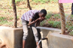 The Water Project: Bumira Community, Savai Spring -  A Sip Of Clean Water