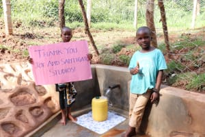 The Water Project: Bumira Community, Savai Spring -  All Smiles At The Waterpoint