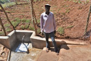 The Water Project: Bumira Community, Savai Spring -  Joseph Madengwa Community Leader
