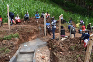 The Water Project: Bumira Community, Savai Spring -  Onsite Demonstration
