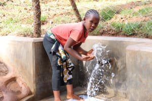 The Water Project: Bumira Community, Savai Spring -  Playing With Water