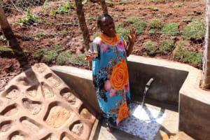 The Water Project: Bumira Community, Savai Spring -  Rose Iramwenya Excited For Clean Water