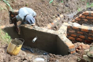 The Water Project: Shibikhwa Community, Musotsi Spring -  Plastering The Inside Walls