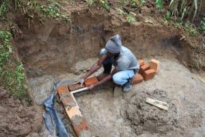 The Water Project: Shibikhwa Community, Musotsi Spring -  Brick Setting And Alignment