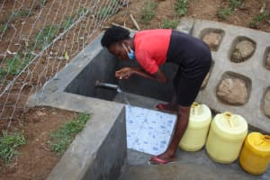 The Water Project: Shibikhwa Community, Musotsi Spring -  A Sip Of Clean Water