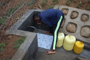 The Water Project: Shibikhwa Community, Musotsi Spring -  A Sip Of Clean