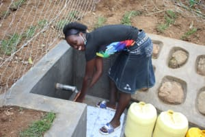 The Water Project: Shibikhwa Community, Musotsi Spring -  All Smiles At The New Water Point